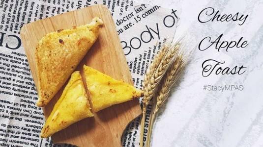 Cheesy Apple Toast ala Mom Milka