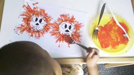 Ide Bermain untuk si Kecil: Fork Lion