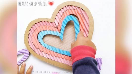 Ide Bermain Anak - Heart Shaped Puzzle