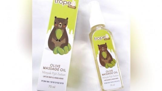 Review Tropee Bebe: Minyak Pijat Zaitun Untuk Anak