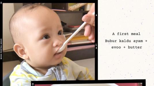 First Day MPASI Baby Adam