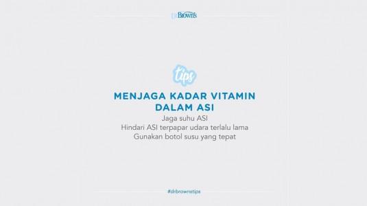 Tips Menjaga Kadar Vitamin dalam ASI