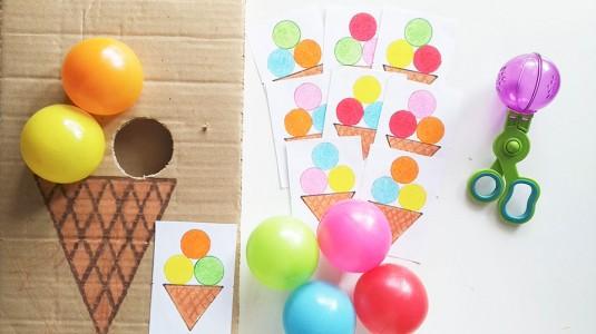 Ide Bermain untuk si Kecil: Ice Cream Scoop Pattern