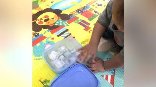 DIY Sensory Play: Ice Blast
