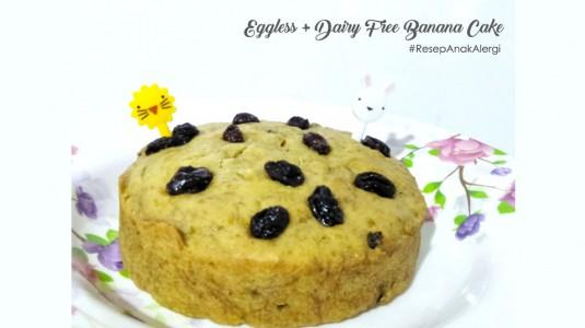 Resep Snack Anak Alergi: Eggless + Dairy Free Banana Cake