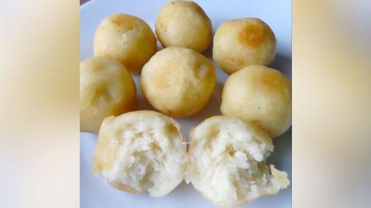 Pompom Talas Isi Keju (Snack MPASI 10M+)