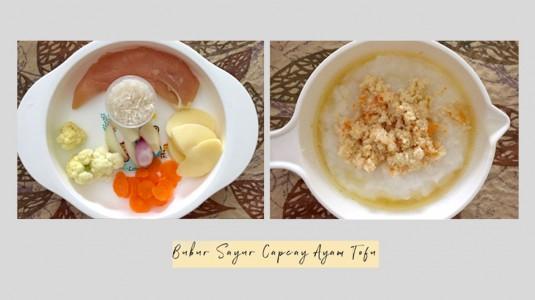 Bubur Sayur Capcay Ayam Tofu 8M+