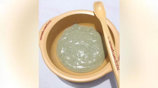 Resep MPASI 6M+ : Bubur Hati Ayam Brokoli