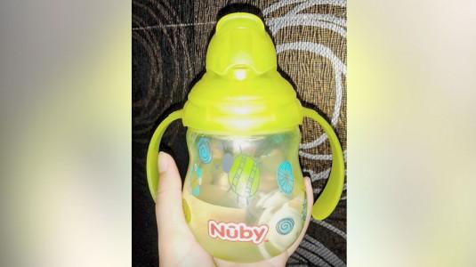 Nuby 360 Straw Cup Designer Series, si Botol Tahan Banting