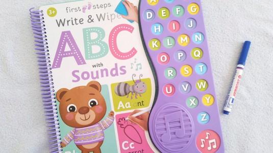 Review Buku Write & Wipes ABC with Sounds - Buku Pengenalan Abjad untuk si Kecil