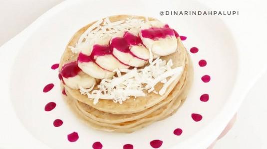 Resep MPASI Banana Oat Pancake (12M+)