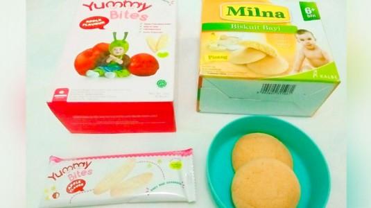 Review Snack MPASI: Milna Pisang vs Yummy Bites Apel