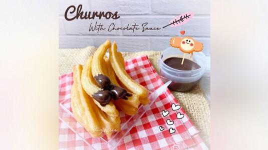 Churros with Chocolate Sauce: Camilan MPASI 12 M+