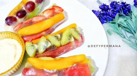 Toddler Snack - Resep Fruit Salad Roll Homemade