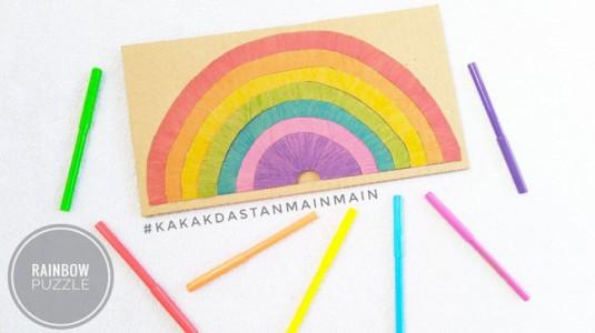 Ide Bermain Anak - Rainbow Puzzle