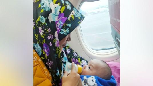Pengalaman Membawa Newborn Baby Usia 2 Bulan Naik Pesawat