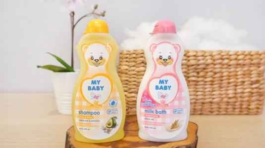 Babyo Review MY BABY Black & Shine Shampoo dan MY BABY Milk Bath Sweet Floral