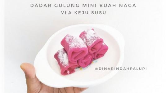 Snack MPASI Dadar Gulung Mini Buah Naga Vla Keju Susu (12M+)