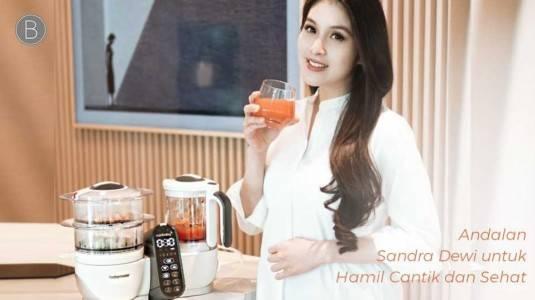 Andalan Sandra Dewi untuk Hamil Cantik dan Sehat