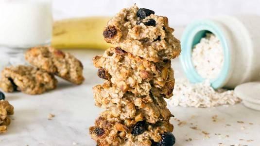 Baby Banana Oatmeal Cookies
