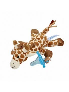 Giraffe Lovey with Blue One-Piece Pacifier