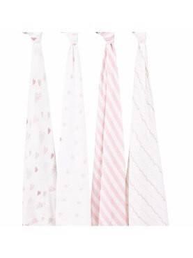 Aden+Anais Silky Soft Dream Blanket Berry Shibori