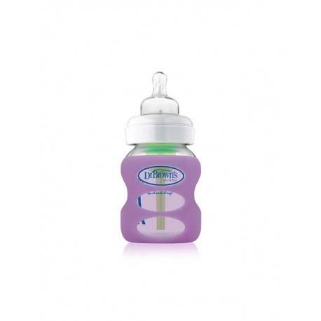 5 oz / 150 ml Wide-Neck Glass Bottle + Sleeve - Purple