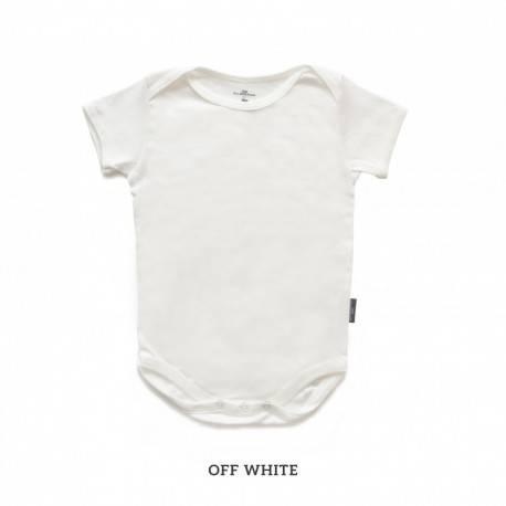 Off White Baby Bodysuit Short Sleeve (jumper)