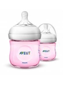 Natural Wideneck Color Bottle Pink 125ml