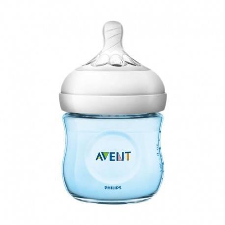 Natural Wideneck Color Bottle Blue 125ml