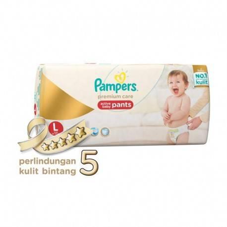 Premium Care Pants L Diaper Bayi [62 Pcs]