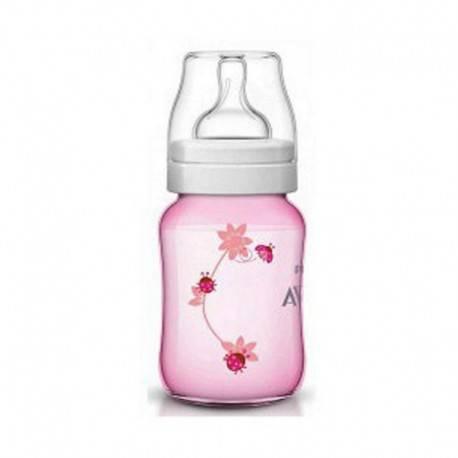 Classic Plus Deco Bottle Pink Ladybug 260ml