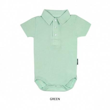 Green Boy Collar Bodysuit Short Sleeve (jumper)