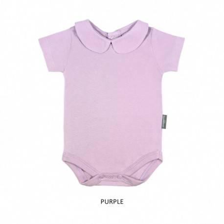 Purple Girl Collar Bodysuit Short Sleeve (jumper)
