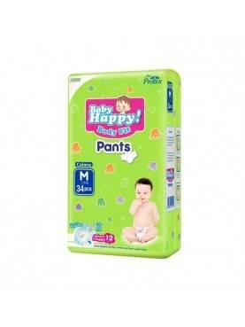 Baby Happy Popok Bayi Pants Size M/34 pcs