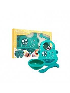 Baby Feeding Set | Green Elephant
