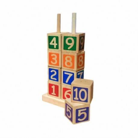 Menara Angka Mainan Kayu