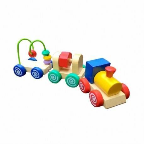 Kereta Imut Kayu Mainan Edukasi Anak