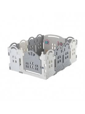 Parklon Fence New Series Magic Castle Monochrome Pagar Pengaman Bayi - White Grey [10 + 2 pcs]