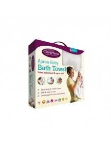 Apron Baby Bath Towel - White