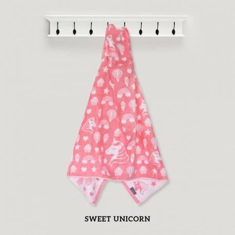Sweet Unicorn Pink Hooded Towel