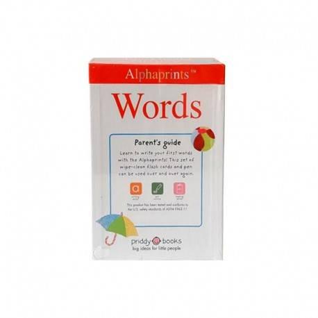 Alphaprints Flash Cards Words Includes Wipe - Clean Pen Buku Edukasi Anak