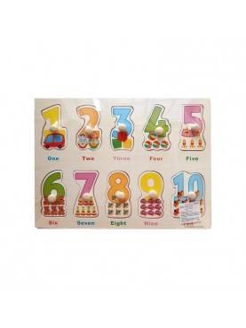 Puzzle Knob Angka Mainan Anak