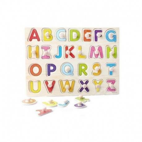 Huruf Knob Puzzle Kayu