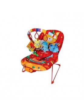 Bouncer 3 Recline Bear n Friends Merah Tempat Tidur Bayi