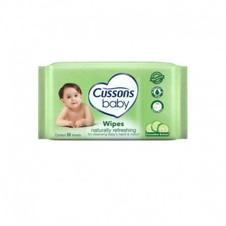 Baby Wipes Naturally Refreshing Tisu Basah [50 Sheet]