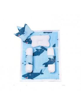 Baby Set Character Blue - Shark Tempat Tidur Bayi