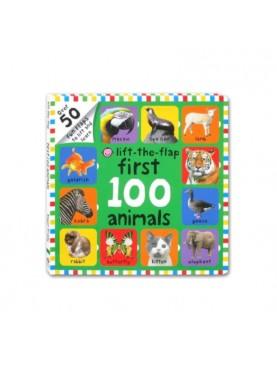 Big Board Book Lift The Flap First 100 Animals with Over 50 Fun Flaps Buku Edukasi Anak