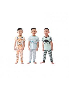Oblong Pendek Celana Panjang London Edition Setelan Piyama Anak [3 Set]