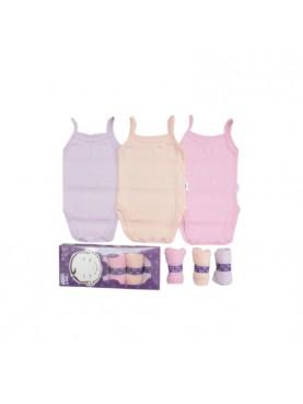Tanktop Jumper Pakaian Dalam Bayi Perempuan - Pastel